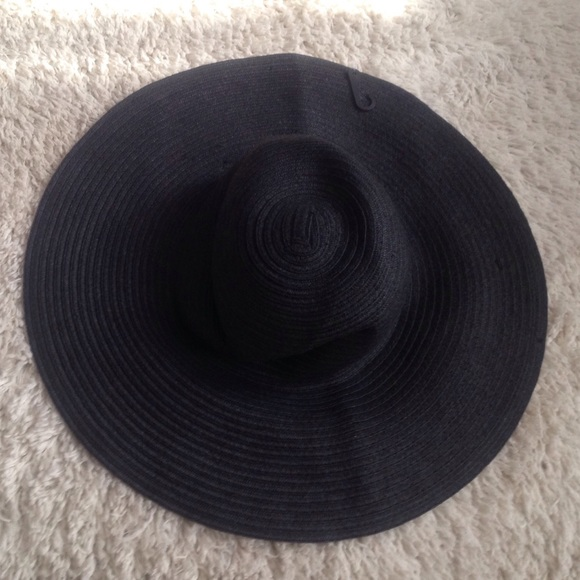 4d27aca4 mandee Accessories | Black Straw Floppy Hat | Poshmark